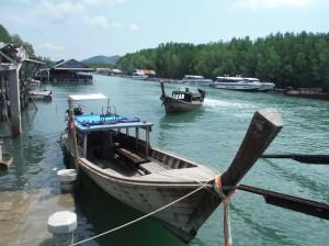 Longtail ferries, Bangrong Pier, Phuket スミス英会話大津校