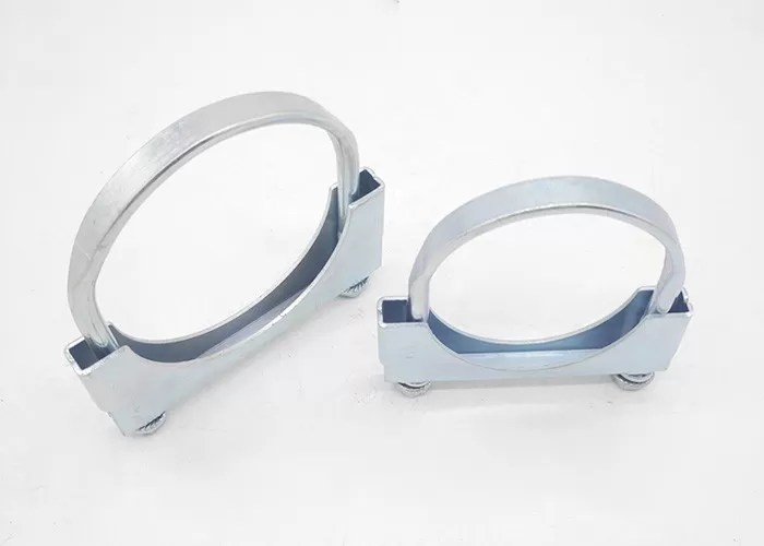 galvanized saddle clamp u bolt steel exhaust clamp for pipe size 2