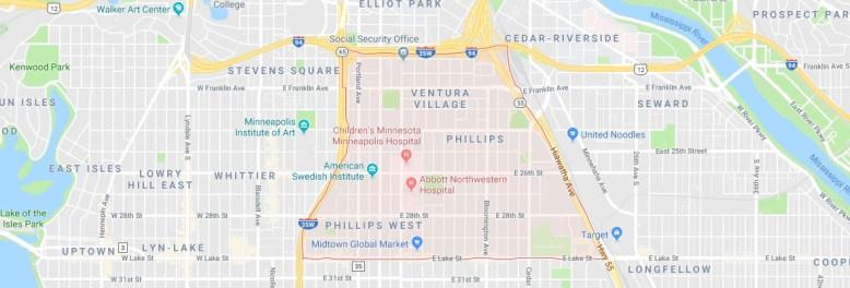 Phillips Neighborhood Map