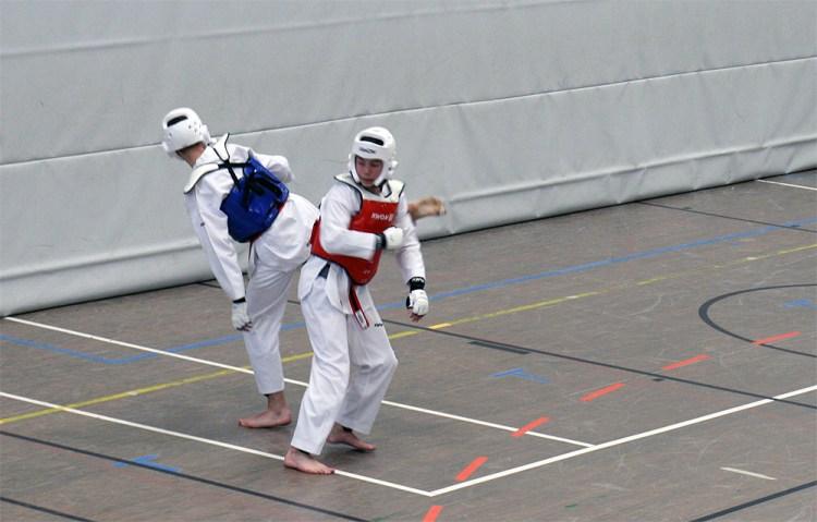 Das SSK-Taekwondo-Team bei der Dan-Prüfung in Alsdorf beim Wettkampf