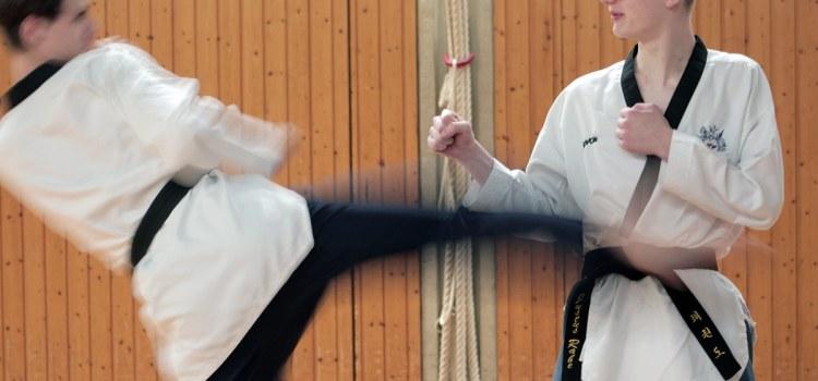 Probetraining beim SSK-Taekwondo-Team