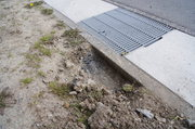 5cmほど掘れば路盤材です