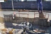 下水道工事・路面を掘削しました