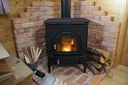 薪ストーブに火が入りました