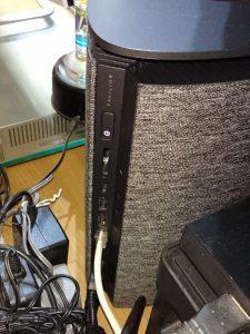 HP Pavilion Wave 600の背面にあるUSB Type-C