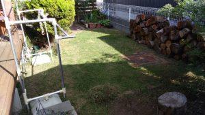 芝生がキレイに刈れました
