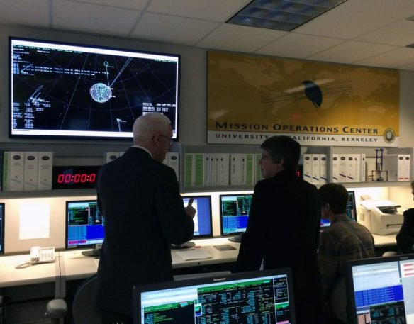 UC President Janet Napolitano in the Mission Operations Center