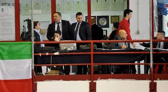 1^ Prova Giovani - La Direzione di Torneo: centrale operativa di gara, con arbitri e computeristi - Foto Trifiletti-Bizzi per Federscherma