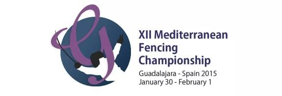 Logo dei campionati del Mediterraneo edizione 2015 da Federscherma