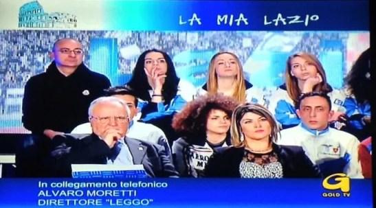26.02.2015 Gold Tv - Il Presidente e parte della nostra delegazione.  (foto della trasmissione M. Piccoli)