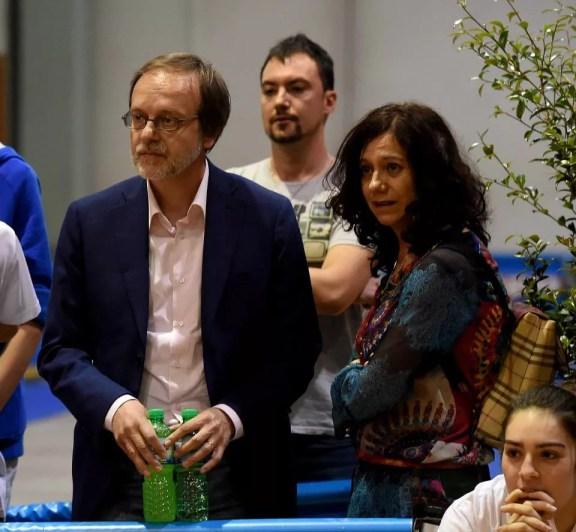16.05.15 Fausto Gasperini e Nuccia Caligiuri... Filippo Gasperini in pedana! (foto Bizzi per Federscherma)