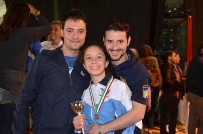 Riccione GPG 01.05.2015 Ludovica Genovese con i Maestri Guido De Bartolomeo e Lorenzo Nini  (foto S. Catone)