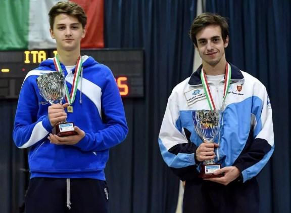 16.05.2015 Treviso Filippo Gasperini 3° classificato Fioretto maschile cadetti