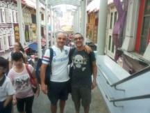 06.08.2015 Stefano Di Muro e Vincenzo Castrucci relax a Chinatown