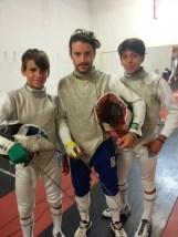 Lorenzo Nini in tenuta da battaglia con Viorel Fioravanti e Vincenzo Pellegrini
