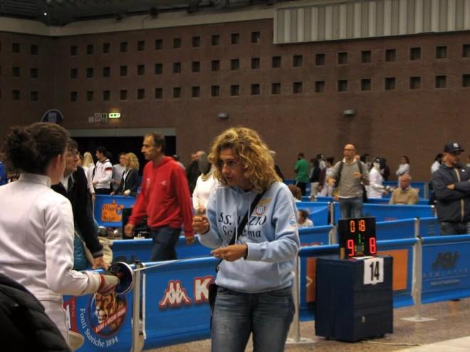 Ravenna 10.10.2015 1^ prova di qualificazione Spada Femminile Sara Bellucci con Elisabetta Castrucci (foto V.Sica)