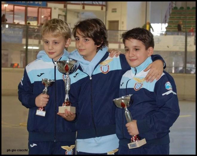 12.12.2015 Trofeo Travint Stelle di Natale I tre moschettieri: Iacopo Imbastari, Francesco Pagano e Filippo Monteferri (foto G.Ciacchi)