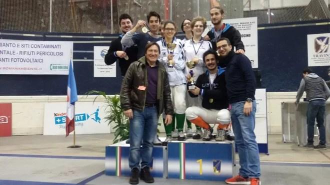 23.01.2016 Ariccia  Serie C2 spada maschile Centro Scherma Latina (foto G.Trombetta)