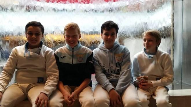 20.03.2016 caserta  2^ prova nazionale U14 Spada Damiano Esposito, William Sica, Riccardo Lupi e Manuel Albanese (foto E.Castrucci)