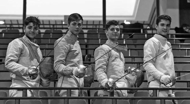 Novi Sad (Serbia) 04.03.2016 Campionati Europei Cadetti: la squadra italiana (foto Bizzi per Federscherma)