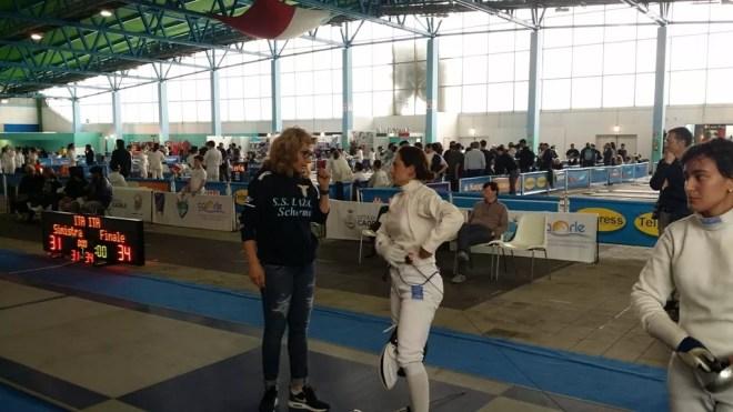 Caorle 23.04.2016 Serie B2 - Spada Femminile Elisabetta Castrucci e Sofia Drag (foto V.Sica)