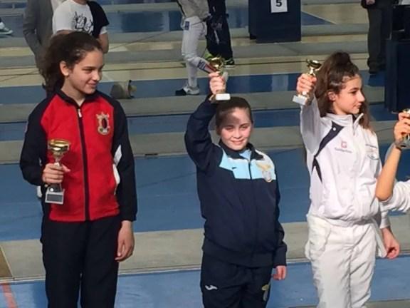 01.04.2016 Baronissi 3^ prova interregionale U14 Alice Calabresi Bronzo nella categoria Bambine di Sciabola (foto E.Gangi)