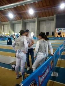 Ancona 7.5.2016 Serie A2 Fioretto Femminile La squadra ariccina con il M° Nini (foto S.Catone)