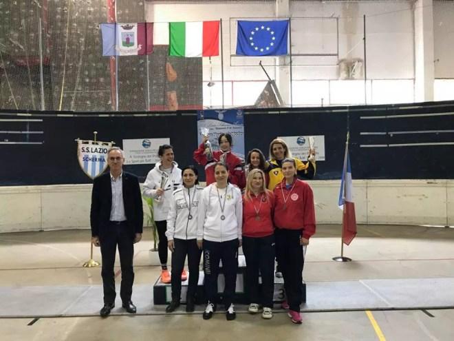 23 aprile 2017 Palariccia 6^ prova nazionale master  Fioretto femminile cat. 1 (foto C.Alfano)