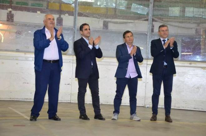 Palariccia 27 maggio 2017  Da sx Domenico Guarneri, Marco Di Martino, Claudio Fontana e Fabio Di Muro (fotexpresspvs)