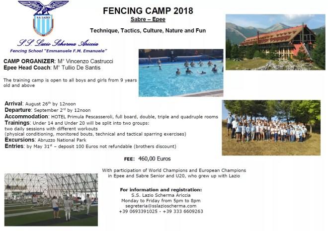 S.S. Lazio Fencing Camp 2018