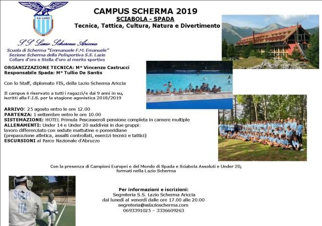 Campus Scherma 2019