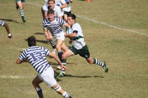 Sacs vs St Johns College at the Leabridge Rugby Challenge