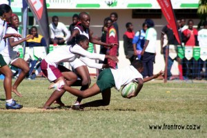 Girls rugby at the Cottco Schools Rugby Festival