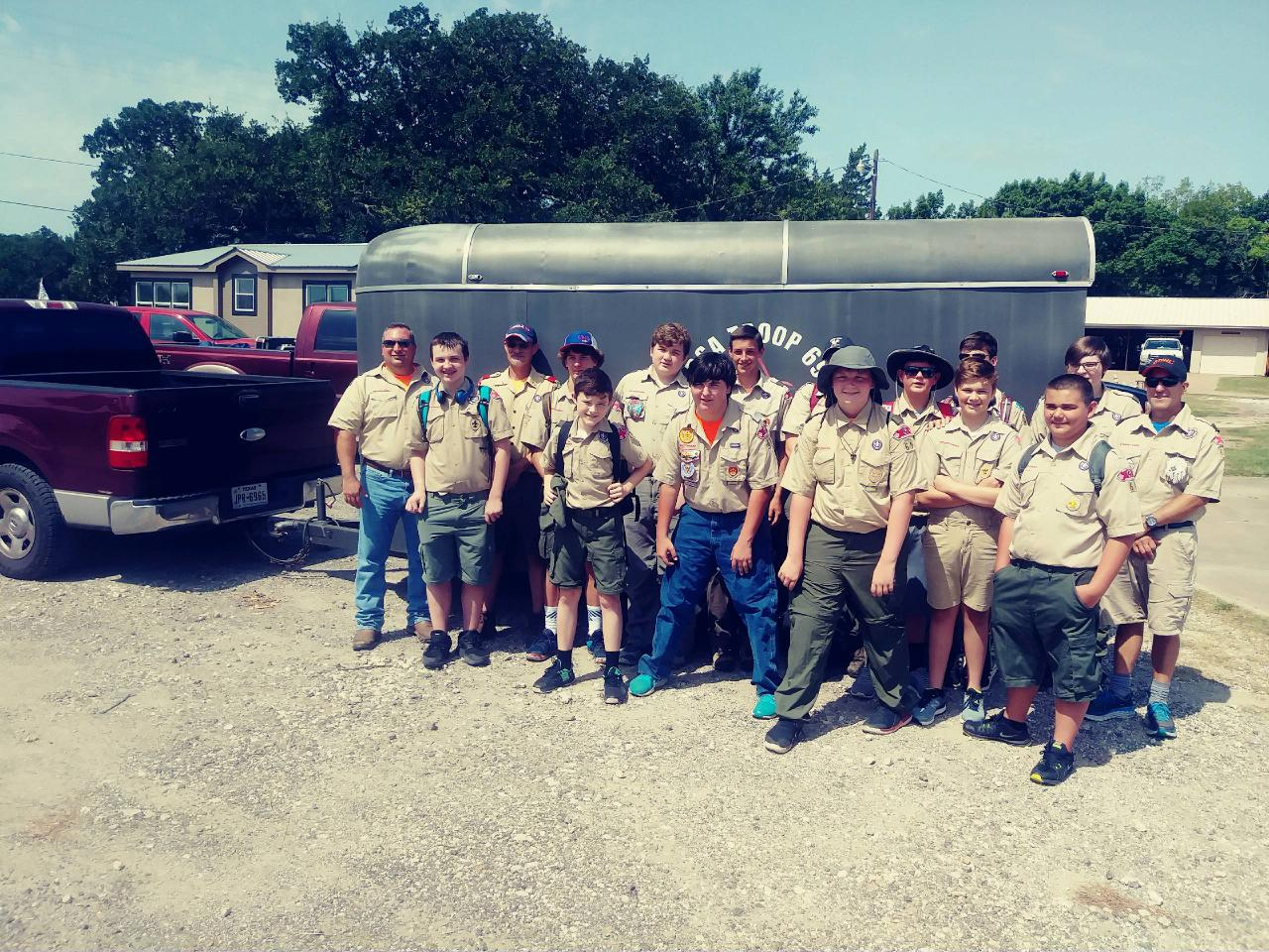 Thirteen Youth And Three Adults From Scout Troop 69