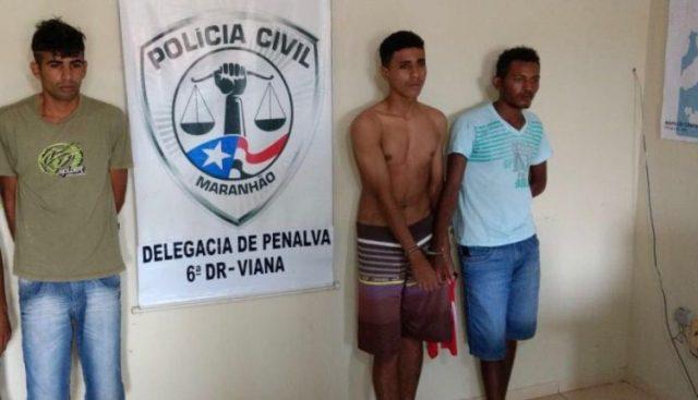 Três homens são presos e um menor apreendido pela Polícia Civil suspeitos pelo crime de roubo em Penalva