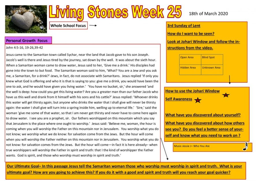 Week 25 Tutor time plan and resources