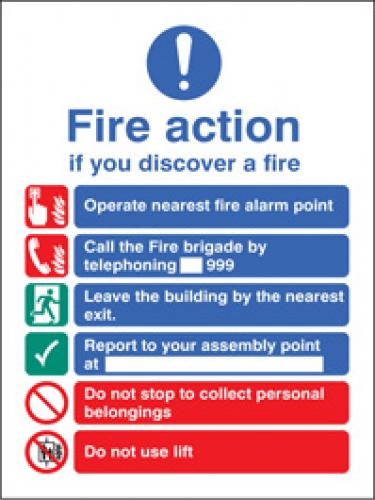 New EEC Fire Action Sign Manual Call Point SSP Print Factory