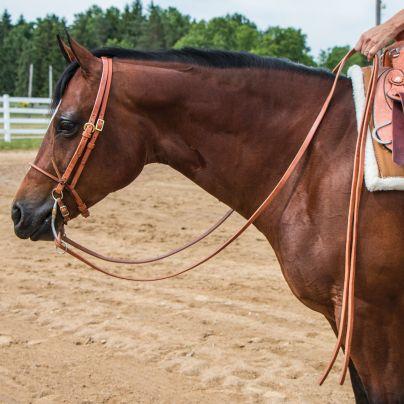 Billy Royal® Hermann Oak Leather Slot End Reins   Schneiders Saddlery