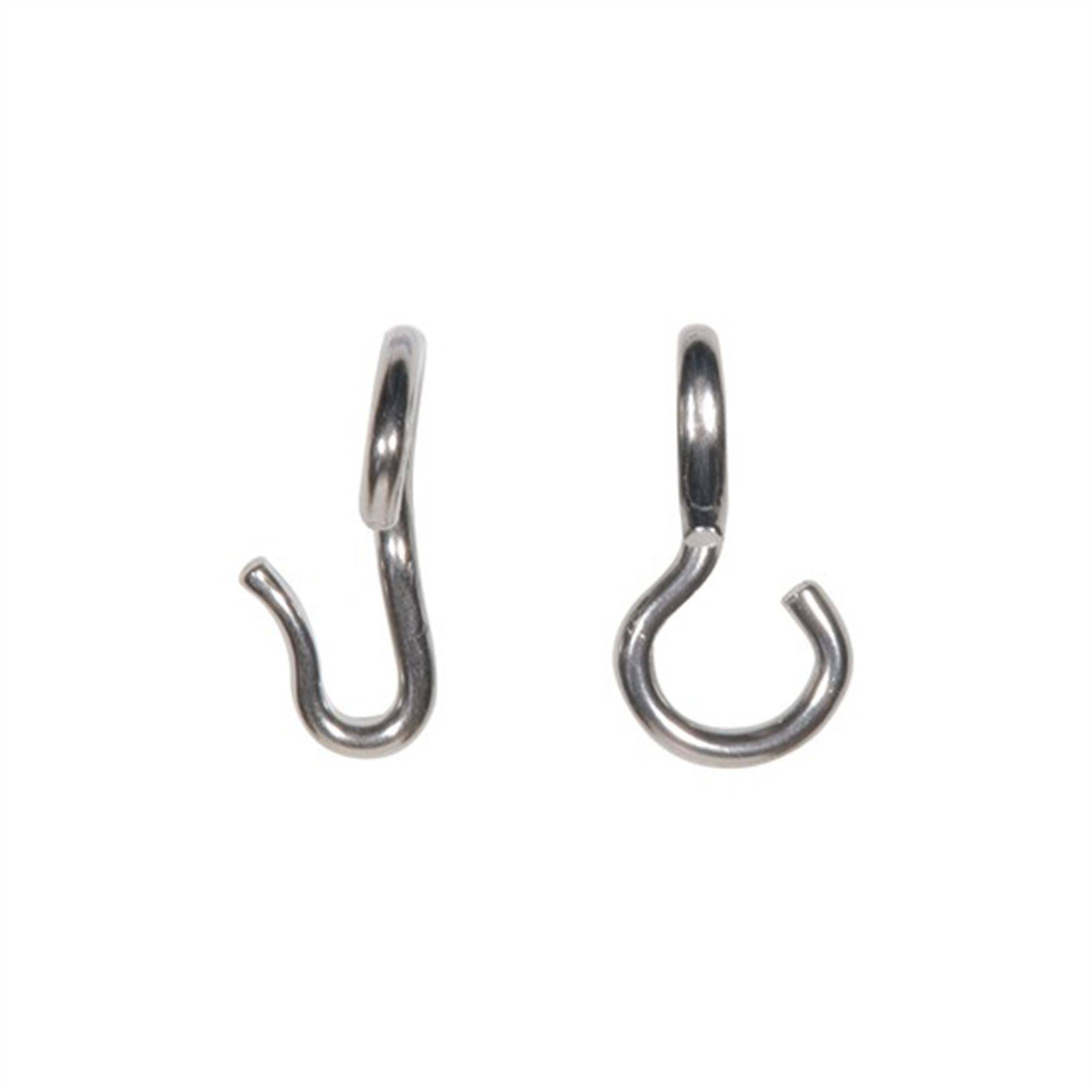 Stubby Never Rust Curb Hooks In English At Schneider Saddlery
