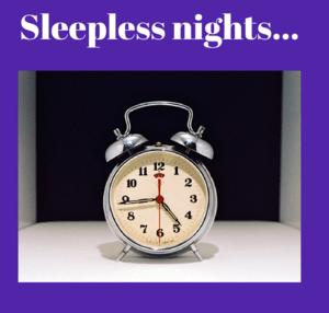 Alarm clock showing 4.44 am