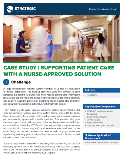 Supporting Patient Care