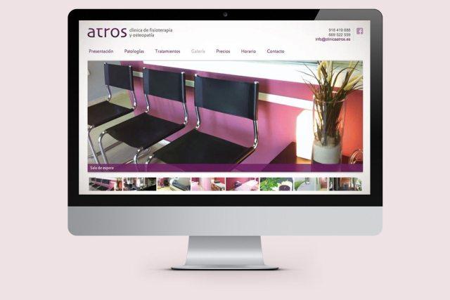 web clínica fisioterapia atros