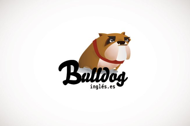 ilustración digital bull dog inglés