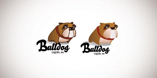ilustración bull dog inglés