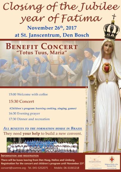 SSVM Benefit Concert