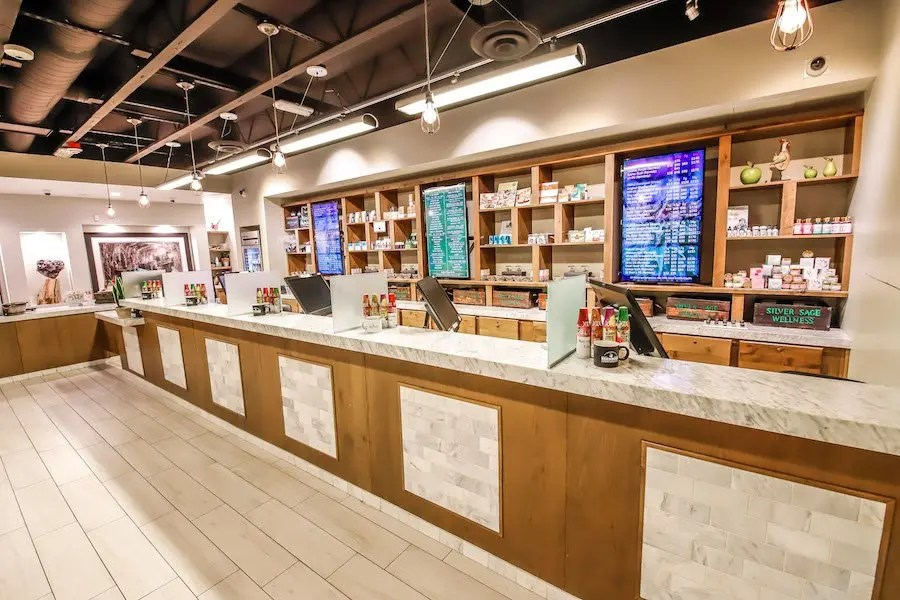 inside a marijuana dispensary