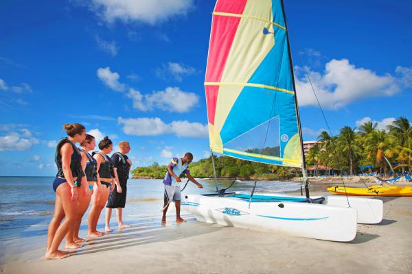 Water sports at St.James Morgan Club St.Lucia