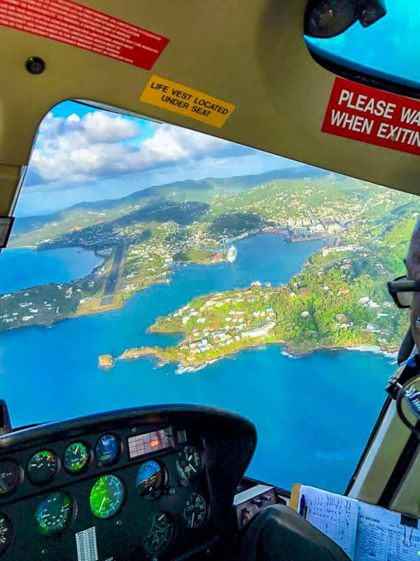 Helicopter tours in St.Lucia