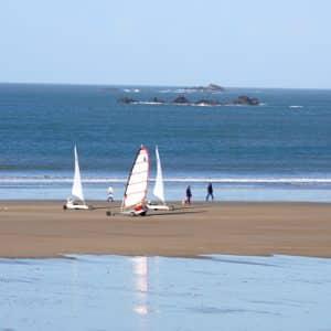 Char à voile à Saint-Malo