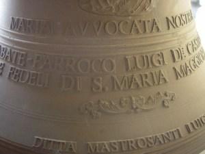 incisione sulla campana